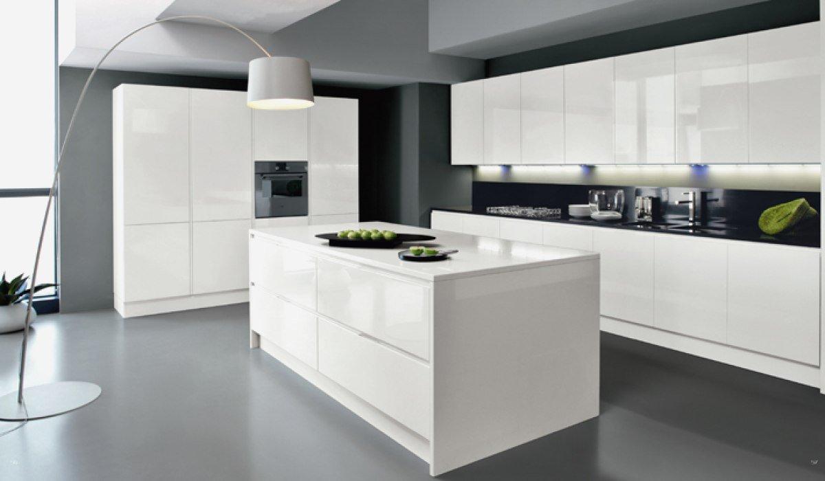 Cuisine design blanche beautiful cuisine blanc laque avec ilot 12 design blanche systembase - Photo de cuisine design ...